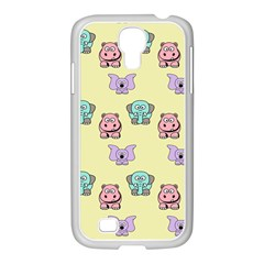 Animals Pastel Children Colorful Samsung Galaxy S4 I9500/ I9505 Case (white)