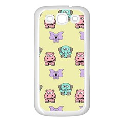 Animals Pastel Children Colorful Samsung Galaxy S3 Back Case (white)