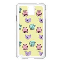 Animals Pastel Children Colorful Samsung Galaxy Note 3 N9005 Case (white) by BangZart