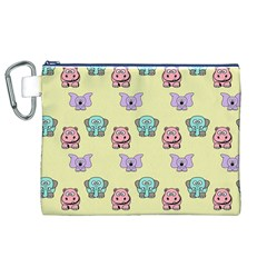 Animals Pastel Children Colorful Canvas Cosmetic Bag (xl) by BangZart