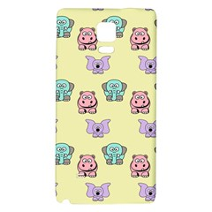 Animals Pastel Children Colorful Galaxy Note 4 Back Case by BangZart