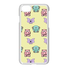 Animals Pastel Children Colorful Apple Iphone 7 Seamless Case (white) by BangZart