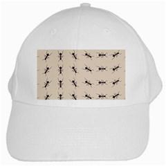 Ants Pattern White Cap by BangZart