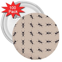 Ants Pattern 3  Buttons (100 Pack)