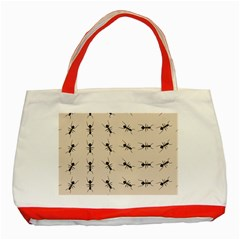 Ants Pattern Classic Tote Bag (red)