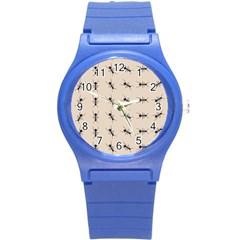Ants Pattern Round Plastic Sport Watch (s) by BangZart
