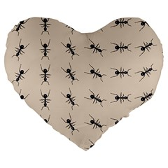 Ants Pattern Large 19  Premium Heart Shape Cushions by BangZart