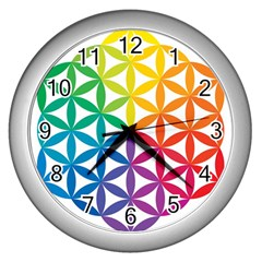 Heart Energy Medicine Wall Clocks (silver)  by BangZart