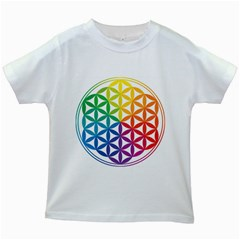 Heart Energy Medicine Kids White T Shirts
