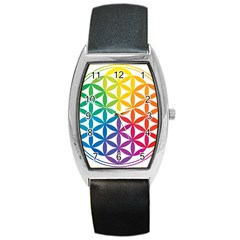 Heart Energy Medicine Barrel Style Metal Watch