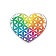 Heart Energy Medicine Heart Coaster (4 Pack)  by BangZart