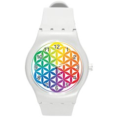 Heart Energy Medicine Round Plastic Sport Watch (m) by BangZart