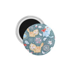 Cute Cat Background Pattern 1 75  Magnets