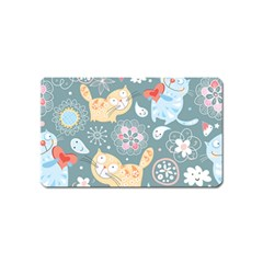 Cute Cat Background Pattern Magnet (name Card)