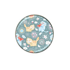 Cute Cat Background Pattern Hat Clip Ball Marker (10 Pack)