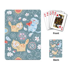 Cute Cat Background Pattern Playing Card by BangZart