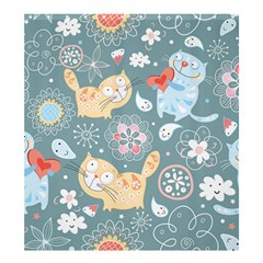 Cute Cat Background Pattern Shower Curtain 66  X 72  (large)
