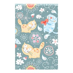 Cute Cat Background Pattern Shower Curtain 48  X 72  (small)