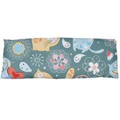 Cute Cat Background Pattern Body Pillow Case Dakimakura (two Sides) by BangZart