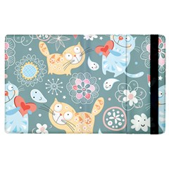 Cute Cat Background Pattern Apple Ipad 3/4 Flip Case by BangZart