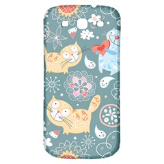 Cute Cat Background Pattern Samsung Galaxy S3 S Iii Classic Hardshell Back Case by BangZart