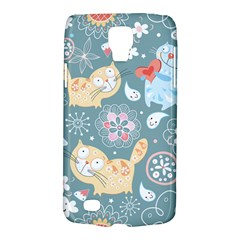 Cute Cat Background Pattern Galaxy S4 Active by BangZart