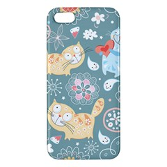 Cute Cat Background Pattern Iphone 5s/ Se Premium Hardshell Case by BangZart