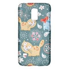 Cute Cat Background Pattern Galaxy S5 Mini