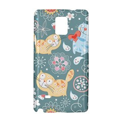 Cute Cat Background Pattern Samsung Galaxy Note 4 Hardshell Case