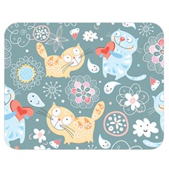 Cute Cat Background Pattern Double Sided Flano Blanket (medium)  by BangZart
