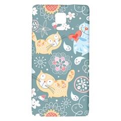 Cute Cat Background Pattern Galaxy Note 4 Back Case