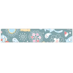 Cute Cat Background Pattern Flano Scarf (large) by BangZart