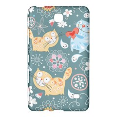 Cute Cat Background Pattern Samsung Galaxy Tab 4 (8 ) Hardshell Case