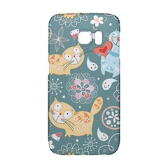 Cute Cat Background Pattern Galaxy S6 Edge