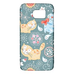 Cute Cat Background Pattern Galaxy S6