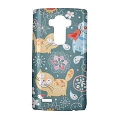 Cute Cat Background Pattern Lg G4 Hardshell Case by BangZart