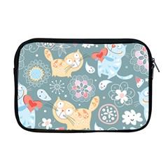 Cute Cat Background Pattern Apple Macbook Pro 17  Zipper Case by BangZart