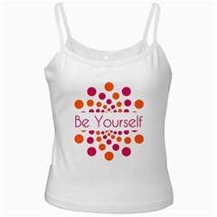 Be Yourself Pink Orange Dots Circular Ladies Camisoles by BangZart