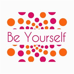 Be Yourself Pink Orange Dots Circular Canvas 20  X 30   by BangZart