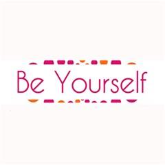 Be Yourself Pink Orange Dots Circular Large Bar Mats