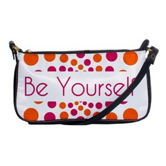 Be Yourself Pink Orange Dots Circular Shoulder Clutch Bags by BangZart