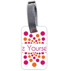 Be Yourself Pink Orange Dots Circular Luggage Tags (one Side)  by BangZart