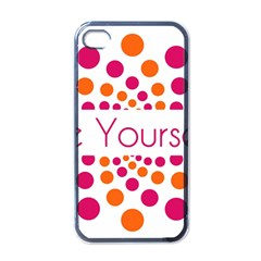 Be Yourself Pink Orange Dots Circular Apple Iphone 4 Case (black) by BangZart