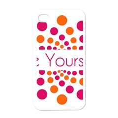 Be Yourself Pink Orange Dots Circular Apple Iphone 4 Case (white) by BangZart