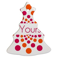 Be Yourself Pink Orange Dots Circular Christmas Tree Ornament (two Sides) by BangZart