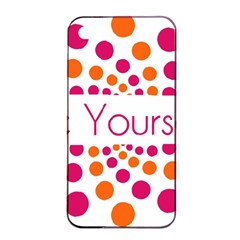 Be Yourself Pink Orange Dots Circular Apple Iphone 4/4s Seamless Case (black) by BangZart