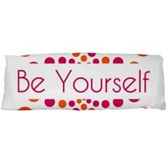 Be Yourself Pink Orange Dots Circular Body Pillow Case (dakimakura) by BangZart