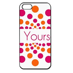 Be Yourself Pink Orange Dots Circular Apple Iphone 5 Seamless Case (black) by BangZart