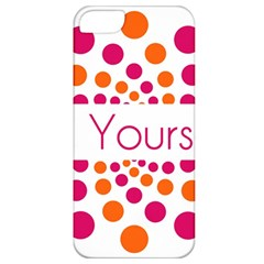 Be Yourself Pink Orange Dots Circular Apple Iphone 5 Classic Hardshell Case by BangZart