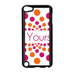 Be Yourself Pink Orange Dots Circular Apple Ipod Touch 5 Case (black) by BangZart